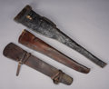 Western Expansion:Cowboy, LOT OF THREE WINCHESTER RIFLE SCABBARDS FROM TEXAS - ... (Total: 3Items)