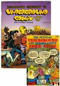 Books:Reference, Underground Comix Price Guide/Illustrated Checklist Group (Various,1979-82) Condition: FN/VF.... (Total: 2 Items)