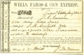 Transportation, Wells Fargo Express Receipt for Gold Dust Delivery,...