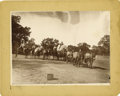 Photography:Cabinet Photos, Imperial Size photograph Wagon and Many Armed Men ca1880s-1890s....