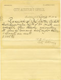 Miscellaneous:Ephemera, Tombstone Arizona Territory Letterhead 1884....