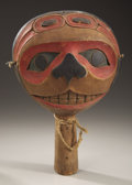 American Indian Art:Wood Sculpture, A NORTHWEST COAST POLYCHROME WOOD DANCE RATTLE. c. 1970...