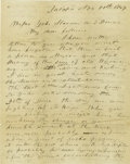 Books:Early Printing, [Mexican War] Autograph Letter from 2nd Pennsylvania Volunteers....