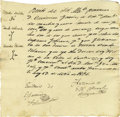 Autographs:Non-American, Antonio Garza Morales Document Signed. ...