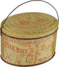 Political:3D & Other Display (pre-1896), Hayes & Wheeler: Lithographed Portraits on a Tin Collar Box,...