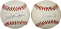 Autographs:Baseballs, Pete Rose and Cal Ripken. Jr. Single Signed Baseballs Lot of 2. Twoof the hardest-working players in the history of the sp...