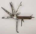 Antiques:Decorative Americana, Large Multi-Purpose Knife...