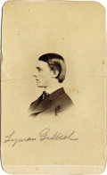 Photography:CDVs, CARTE DE VISITE OF LYMAN DeHUFF GILBERT, MARCUS RENO'S ATTORNEY. In an 1879 case that propelled him into the nation...