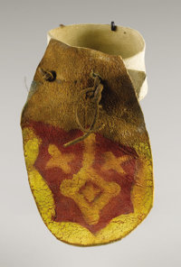 A SOUTHWEST PAINTED HIDE ARMBAND c. 1890