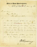 Military & Patriotic:Indian Wars, Letterhead, Fort D. A. Russell, Wyoming Territory 1868....
