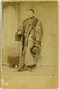 Photography:Cabinet Photos, Cabinet Card Photograph of Man in Fur Coat Nebraska ca 1880s....