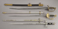 """Military & Patriotic:Civil War, Group of Three Swords Belonging to Lieutenant Mills C. Clark, Company """"I"""" 93rd Illinois Infantry,... (Total: 3 Items)"""