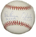 Autographs:Baseballs, Perfect Game Pitchers Baseball Signed By Don Larsen and DavidWells. This pair of former Yankees twirlers has each attained...
