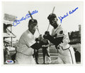 Autographs:Baseballs, Mickey Mantle and Hank Aaron Dual-Signed Photograph. If you grew upin the 1950s or 1960s, chances are that you grew up emu...