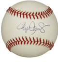 Autographs:Baseballs, Roger Clemens Single Signed Baseball. From one of themost-accomplished pitchers in the history of major league baseballwe...