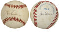 Autographs:Baseballs, Joe Torre and Lou Piniella Single Signed Baseballs Lot of 2. Twocelebrated former managers of the New York Yankees of rece...