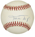 Autographs:Baseballs, Willie Mays Single Signed Baseball. The Say Hey Kid has made theprovided ONL (White) orb the home for his sweet spot signa...