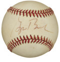 Autographs:Baseballs, President George W. Bush Single Signed Baseball. While he currentlyholds the position of Commander-in-Chief, the career pa...