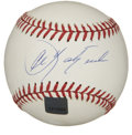 Autographs:Baseballs, Carl Yastrzemski Single Signed Baseball. The great Yaz has checkedin here to the tune of a fantastic sweet spot signature ...