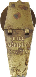 Political:Ribbons & Badges, Anti-McKinley Mechanical Coffin Stud....