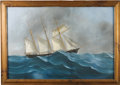 Transportation:Nautical, Maritime Paintings: Pair of Yacht Portraits of the Elizabeth Llwelyn by [Antonio] De Simone.... (Total: 2 Items)