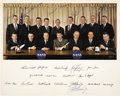"Autographs:Celebrities, NASA Astronaut Groups One and Two Photo Signed by Six: ""Edward HWhite II"" (1930-1967), ""James A. McDivitt"",""Elli..."