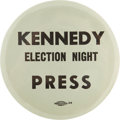 Political:Pinback Buttons (1896-present), John F. Kennedy: Extremely Rare 1960 Election Night PressButton....