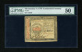 Colonial Notes:Continental Congress Issues, Continental Currency January 14, 1779 $50 PMG About Uncirculated50....