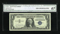 Small Size:Silver Certificates, Fr. 1621* $1 1957B Silver Certificate Star. CGA Gem Uncirculated 67.. ...