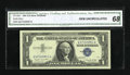 Small Size:Silver Certificates, Fr. 1620 $1 1957A Silver Certificate. CGA Gem Uncirculated 68.. ...