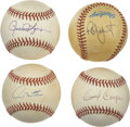 Autographs:Baseballs, Milwaukee Brewers Stars Single Signed Baseballs Lot of 4. Four ofthe most-celebrated stars in the history of the Milwaukee...