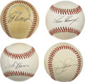 Autographs:Baseballs, Modern Star Pitchers Single Signed Baseballs Lot of 4. Each of thesingles presented here has been signed by a modern star ...