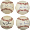 Autographs:Baseballs, Hall of Fame Pitchers Single Signed Baseballs Lot of 4. Each anartist in the mound in his own right, this fine quartet of H...