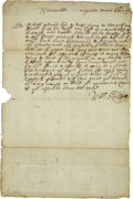 Autographs:Statesmen, Colonial America - William Kendall Autograph Letter Signed...