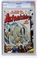 Golden Age (1938-1955):Science Fiction, Astonishing #40 (Atlas, 1955) CGC VF/NM 9.0 Off-white pages....