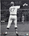 Autographs:Photos, 1975 Boston Red Sox Team Signed Oversized Photograph. While hiscareer as a whole was worthy of berth into Cooperstown's Hal...