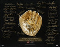 Autographs:Photos, Gold Glove Winners Lithograph Signed by 34. Awarded each year to the top fielder at each position, the Gold Glove Award has...