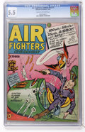 Golden Age (1938-1955):War, Air Fighters Comics V2#1 (Hillman Fall, 1943) CGC FN- 5.5 Cream tooff-white pages....