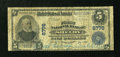 National Bank Notes:North Carolina, Shelby, NC - $5 1902 Plain Back Fr. 598 The First NB Ch. # 6776. ...