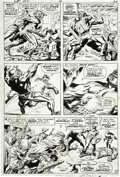 Original Comic Art:Panel Pages, Jack Kirby and Syd Shores Captain America #100 page 17Original Art (Marvel, 1968)....