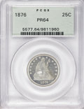 Proof Seated Quarters, 1876 25C PR64 PCGS....