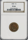 Proof Indian Cents, 1860 1C PR64 NGC....