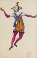 Fine Art - Work on Paper:Watercolor, SERGEY YUREVICH SUDEIKIN (Russian, 1882-1946). CostumeDesign. Mixed media on paper. 18-1/2 x 12 inches (47.0 x 30.5cm)...
