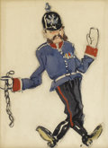Fine Art - Painting, Russian, ALEXANDRE NIKOLAEVICH BENOIS (Russian/French, 1870-1960).Polonaise Militaire. Watercolor, gouache, and graphite onpape...