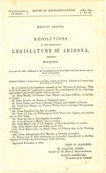 Western Expansion:Cowboy, 1865 Resolution of the Territorial Legislature of ArizonaRequesting Mail Facilities....