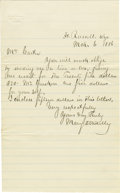 Miscellaneous:Ephemera, Letter from Fort Russell, Wyoming 1886 - ...