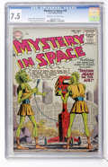Golden Age (1938-1955):Science Fiction, Mystery in Space #25 (DC, 1955) CGC VF- 7.5 Cream to off-whitepages....