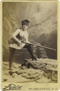 Photography:Cabinet Photos, Cabinet Card Photograph of Lady with Long Rifle ca 1880s -...