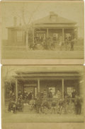 Military & Patriotic:Indian Wars, Two Imperial Size Photographs Fort Yates, North Dakota ca 1890s - ... (Total: 2 Items)