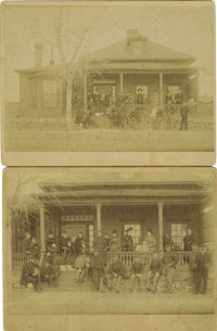 Two Imperial Size Photographs Fort Yates, North Dakota ca 1890s -
